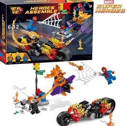 Super Blocks Australia - uilding Construction Toys Blocks SpiderMan Super Heroe 248pcs Spider Man Ghost Rider Team-UP Motorcycle Hobgoblin set Minifig Compatible ...
