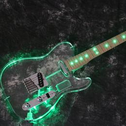 $enCountryForm.capitalKeyWord UK - 2019 Starshine TL LED Light 22 Frets Electric Guitar Acrylic Body More Color Can Choose chrome Hardware