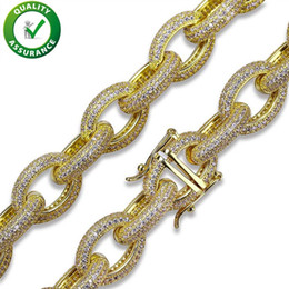 Luxury Chains NZ - Iced Out Chains Hip Hop Jewelry Mens Designer Necklace Gold Silver Plated Micro Paved CZ Diamond Luxury Necklaces Fashion Oval Twisted Chain