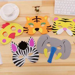 $enCountryForm.capitalKeyWord Australia - Party Mask Birthday Supplies EVA Foam Animal Masks Cartoon Kids Party Dress Up Costume Zoo Jungle Mask Party Decoration GB593