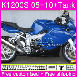 $enCountryForm.capitalKeyWord NZ - Body+Tank For BMW K1200 S K 1200 S K1200S 05 06 07 08 09 10 Kit 30HM.15 K-1200S K 1200S 2005 2006 2007 2008 2009 2010 Fairing Blue Black