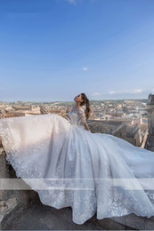 $enCountryForm.capitalKeyWord Australia - Luxury Romantic Turkry Wedding Dresses A Line For Bride New 2019 Lace Appliqued Open Back Sheer Jewel Neck Long Sleeves Garden Bridal Gowns