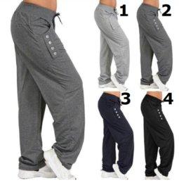 Novas Mulheres Casuais Primavera Outono Tamanho Grande Calças Compridas Cintura Elástica Sólida Algodão De Linho Calças Tornozelo Haren Pants Comprimento