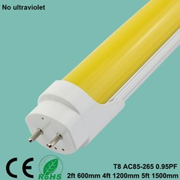 industrial housing Australia - T8 No UV LED tube T8 UV resistant 600mm 1200mm 1500mm Smd2835 yellow lamp for Printing house darkroom lights dust-free workshop