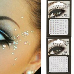 Body crystal stickers online shopping - Body Face Jewels Crystal Temporary Eyes Sticker Festival Party Mask Glitter Stickers Flash Rhinestones Nail Art Decorations