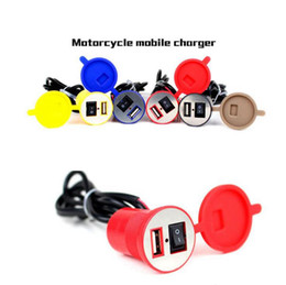 $enCountryForm.capitalKeyWord Australia - Waterproof 12V Motorcycle Phone USB Charger Power Supply Adapter Port Socket Recharging Mobile Charger 5 Colors OOA4938