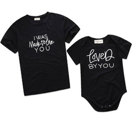 mother daughter matching top Canada - Family Matching Outfits T-shirt Mother Daughter Father Son Tops Letter Tees Summer Casual Clothes Black Adult Kids Children New