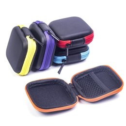 Cable Shoes Australia - Hoomall Data Line Cables Storage Box Case Square Earphone Wire Organizer Container Mini Portable Coin Headphone Protective