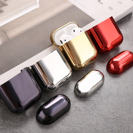 $enCountryForm.capitalKeyWord Australia - Earphone Case Earbuds Cover Earbuds Charging Box Case for Airpods Silver Red Gold Black Color In Stock