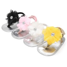 Discount thongs hook - Newborn Baby Girls Shoes Crib Infant Toddler Summer Big Flower Soft Sole Prewalkers First Walkers Princess Thongs Shoe