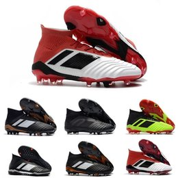 $enCountryForm.capitalKeyWord Australia - Hot Predator 18 Predator 18.1 Fg Pp Paul Pogba Soccer 18 X Cleats Slip-on Football Boots Mens High Top Soccer Shoes Cheap