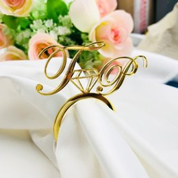$enCountryForm.capitalKeyWord Australia - 50pcs Personalized Acrylic Wood Gold Silver Laser Cut Napkin Rings With Heart Diamond For Wedding Party Table Decoration Party J190706
