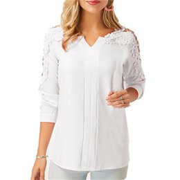 Blusas femininas online shopping - Femininas Blusas Women Blouses Spring  Autumn Fashion Sexy Lace Off shoulder dafab3d4b9785