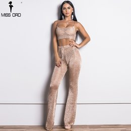 long jumpsuits xs Australia - Missord 2017 Women Sexy Gold Thread Off Shoulder Two Pcs Set Rompers Female Elegant Solid Color Jumpsuit Ft9357-1 MX190726