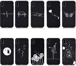Dandelion Case Australia - Soft TPU Case For Huawei P30 Pro Mate 20 Lite P20 V20 P Smart 2019 Honor 8X Love Heart Sexy Girl Kiss Cat Lady Starry Dandelion Black Cover