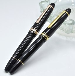 Pens Size Australia - High quality Meisterstcek 149 Black Resin Classical Fountain pen Luxury 4810 Middle size 14k NIb Write Stationery with Monte Serial Number