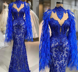 pageant little sexy girl dresses Australia - 2020 Royal Blue Sparkly Mermaid Prom Evening Dress Sexy Sequins Lace Appliqued Party Gown Sexy African Black Girl Pageant Dresses Cheap