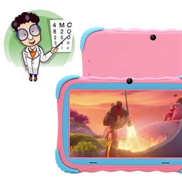 tablet pc gms UK - Android 7.1 Tablet PC with 7 Inch IPS Eye Protection Screen 1GB+16GB WiFi Camera Bluetooth GMS Certified Kids-Proof Children Tab