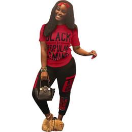 711a43797a2 2019 Brand designer Letter Print Two Piece Set Top Pants Women Tracksuit Plus  Size Casual Outfit Sports Suit Women Sweatsuits Gym Clothing