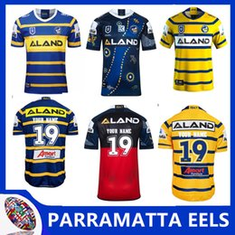 925b47c98c1 2019 PARRAMATTA EELS HOME RUGBY JERSEY PARRAMATTA EELS INDIGENOUS RUGBY  JERSEY NRL Premiership EELS Home and Away Rugby Shirts Size S-3XL