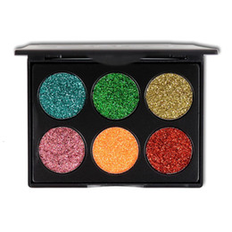 $enCountryForm.capitalKeyWord Australia - 1 pc New Glitter Eye Shadows Cosmetics for Women Waterproof Mineral Warm 6 Colors Shimmer Eyeshadow Pigment Makeup