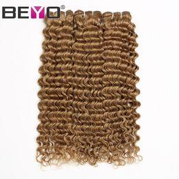 $enCountryForm.capitalKeyWord Australia - Honey Blonde Deep Wave Bundles Human Hair Bundles Malaysian Curly Hair 3 Or 4 Bundle Deals #27 Color Remy Hair Extension Beyo