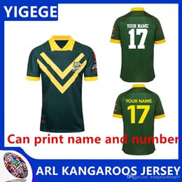 4f078200a65 KANGAROOS 2017 WORLD CUP JERSEY AUSTRALIA KANGAROOS JERSEY AINDIGENOUS  JERSEY 2018 19 Players Rugby Training Singlet size S-3XL (can print)