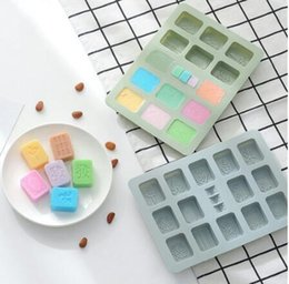 fondant accessories for cakes UK - Chinese Mahjong Silicone Chocolate Mold Fondant Cake Decorating Tools Handmade Candy Molds DIY kitchen Accessories For Baking