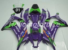Zx 14 Fairing Purple Australia - New Injection Mold ABS Fairing For KAWASAKI Ninja ZX 10R ZX10R 11 12 13 14 15 ZX-10R ZX10 R 2011 2012 2013 2014 2015 fairings purple green