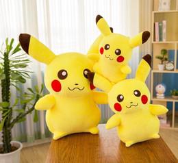 Best-seller detective Pikachu Plush Doll 20 35 cm Pikachu peluche del fumetto peluche morbido migliore regalo produttori all'ingrosso