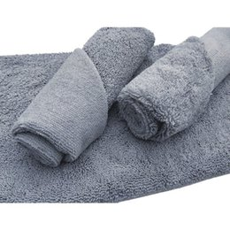 Top car polish online shopping - 380gsm Edgeless Microfiber Cloth No Top Edge Detailing Towel For Polishing Finishes Washing Car Water Absorption Towel