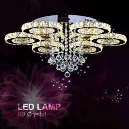 $enCountryForm.capitalKeyWord Australia - Modern Chandelier Light Fixture LED Ceiling light Lighting Crystal Flush Mounted Lamp Dining Lighting Drop Lamp LED Home Fitting