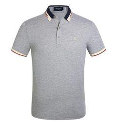 G21a Moda Burburry Men \ 's Polos Casual Curto-manga Nova Nova Lapela T-shirt Dos Homens Desgaste Pólo Camisa de Manga Curta Marca Camisola venda por atacado
