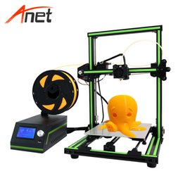 Lcd screen sizes online shopping - Anet E10 Aluminum Frame Large LCD Screen d Printer DIY Machine cm Printing Size Desktop d Printer For School Education