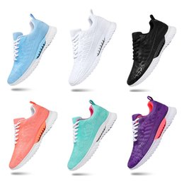 Wholesale Hot Whole Sale Men Women sports running shoes black white blue mesh breathable shoes sports sneakers size 36-45 free shipping