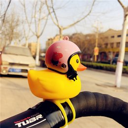 $enCountryForm.capitalKeyWord NZ - Wearing a helmet small yellow duck headlights children bicycle car cartoon safety duck bicycle light trumpet bells cute little toys