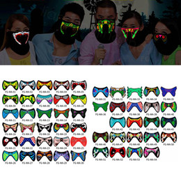 Flashing masks online shopping - LED Luminous Flashing Face Mask Party Masks Light Up Dance Halloween masks Costume Decoration Cosplay Party Supplies props FFA3139