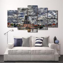 $enCountryForm.capitalKeyWord Australia - Mill River Homes Landscape,5 Pieces Home Decor HD Printed Modern Art Painting on Canvas (Unframed Framed)