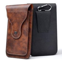 """Ring For Hanging Bag Australia - Universal Cell Phone for 4.0""""-6.3"""" Large PU Leather Wallet Case Bag Belt Clip Hanging Ring Vertical Flip Pouch for iPhone Galaxy"""