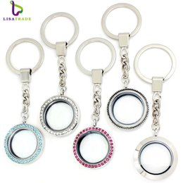 Floating keychains online shopping - living keychain diylocket mm Round twist living locket keychains high quality floating charm locket Zinc Alloy LSFK15