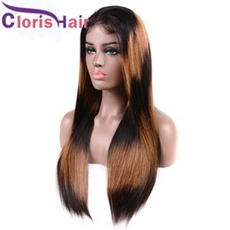 highlights for black hair woman 2019 - Highlight Honey Blonde Braided Lace Front Wigs For Black Women Colored Malaysian Straight Human Hair Ombre Wig F1B 27 Gl