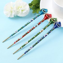 $enCountryForm.capitalKeyWord Australia - accessories 1PC Women 2017 New Metal Rhinestone Handmade Stick Chopsticks Fashion Ladies Hairpin Chignon Hair Accessories