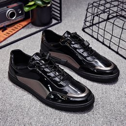 $enCountryForm.capitalKeyWord Australia - Patent leather New Arrival Spring Autumn Men Casual Shoes Fashion Comfortable Lightweight Men Shoes High Quality Sneakers For