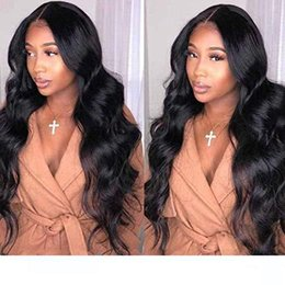 virgin wigs for sale Australia - lace front wigs Body water wave wigs Brazilian Virgin Human hairPre plucked 360 full lace Human Hair wigs 130% density for sale