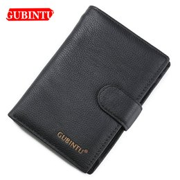 $enCountryForm.capitalKeyWord Australia - GUBINTU Genuine Cow Leather Long Men Wallets Card Holder Coin Pocket Multifunction Wallets Classic Top Quality Brand Men