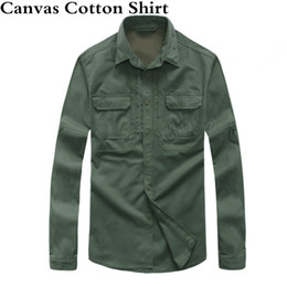 $enCountryForm.capitalKeyWord Australia - Canvas Cotton Tactical Shirt Spring Autumn Outdoor Sports UV Fishing Shirt Long Sleeve Army Training Shirts Mens Tops