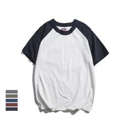 cf089e7e0b7fe2 Dropshipping Tee-shirts d homme Nouveautés Été Homme à manches raglan  T-shirt classique en coton Vintage Basique O-cou Tees Tops Mâle