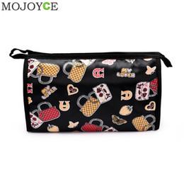 e927f0572 ... Bolsas de maquillaje Patrón Cuero de LA PU Bolsas de cosméticos lindos  para las mujeres Bolsas de viaje de las señoras Bolsa de cosméticos Caliente