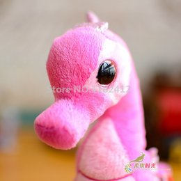 cat doll big eye Australia - Pink Majestic Blue Neptune Seahorse Plush Toy 15CM 6'' Cute Big Eyes Stuffed Animal Baby Kids Toys for Children