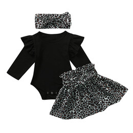leopard print clothes for baby girls Australia - ARLONEET Infant Baby Girls Solid Romper Bodysuit+Leopard Print Skirts+Headband Outfits Set For Baby Kids Boy Girl Clothing *18